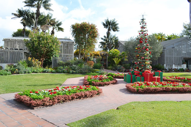 My painted garden christmas at sherman library and gardens for Cafe jardin newport beach