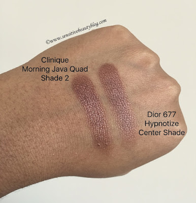 Clinique Morning Java Quad vs Dior 677 Hypnotize