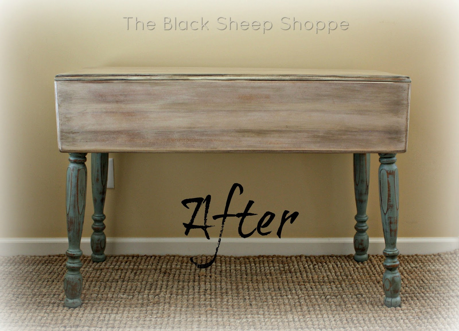 Get the look of a rustic farmhouse table with paint