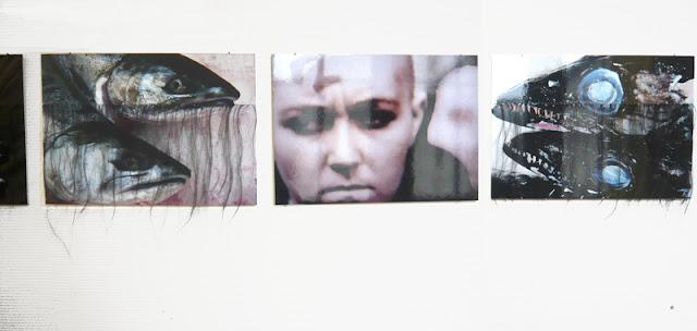 Vue de trois photographies de l'installation