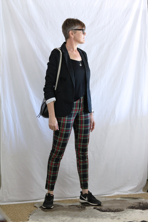 Mens blazer 80s plaid pants