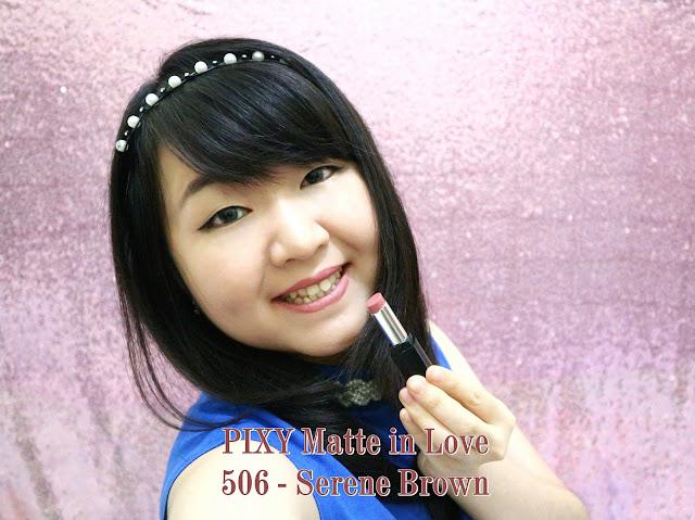 PIXY Matte in Love Lipstick Serene Brown