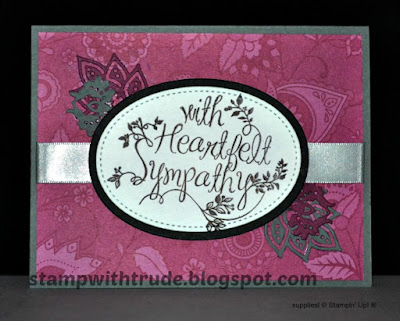 Heartfelt Sympathy, sympathy card, Stampin' Up!, Stamp with Trude, Tuesday Tutorial 74