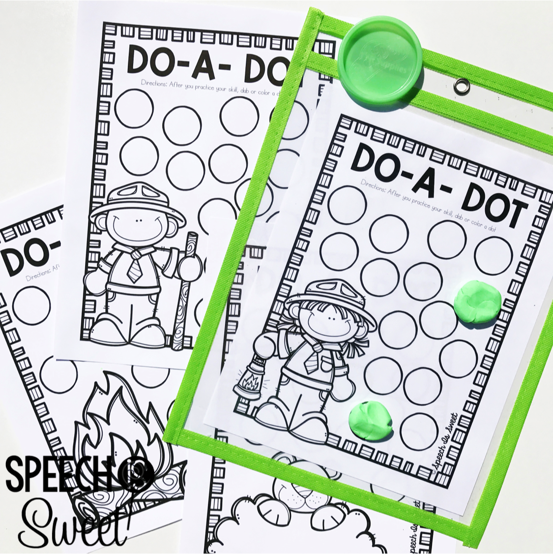 Free Camping Themed Dot Pages
