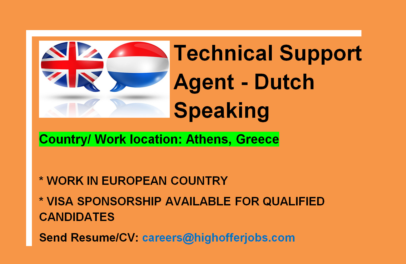 Dutch Speaking Technical Support