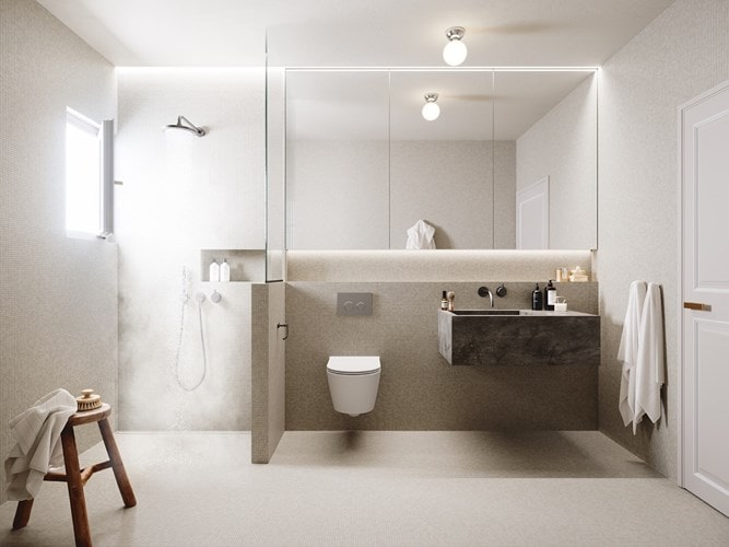 Trang trí phòng tắm đơn giản, quyến rũ