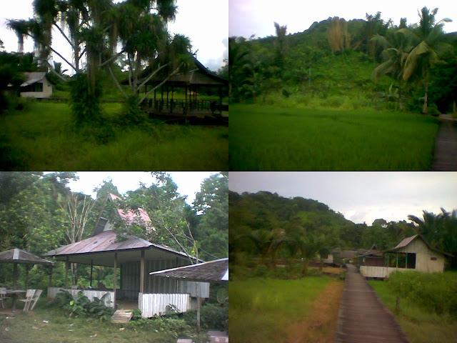 Pemandangan Alam dan Objek Wisata Banyu Panas Hantakan - South Borneo