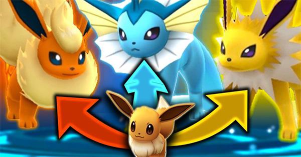 Cách tiến hóa Eevee theo ý muốn trong Pokemon GO