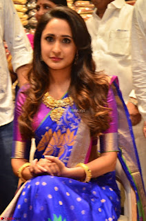 Pragya Jaiswal in colorful Saree looks stunning at inauguration of South India Shopping Mall at Madinaguda ~ Exclusive Celebrities Galleries 005