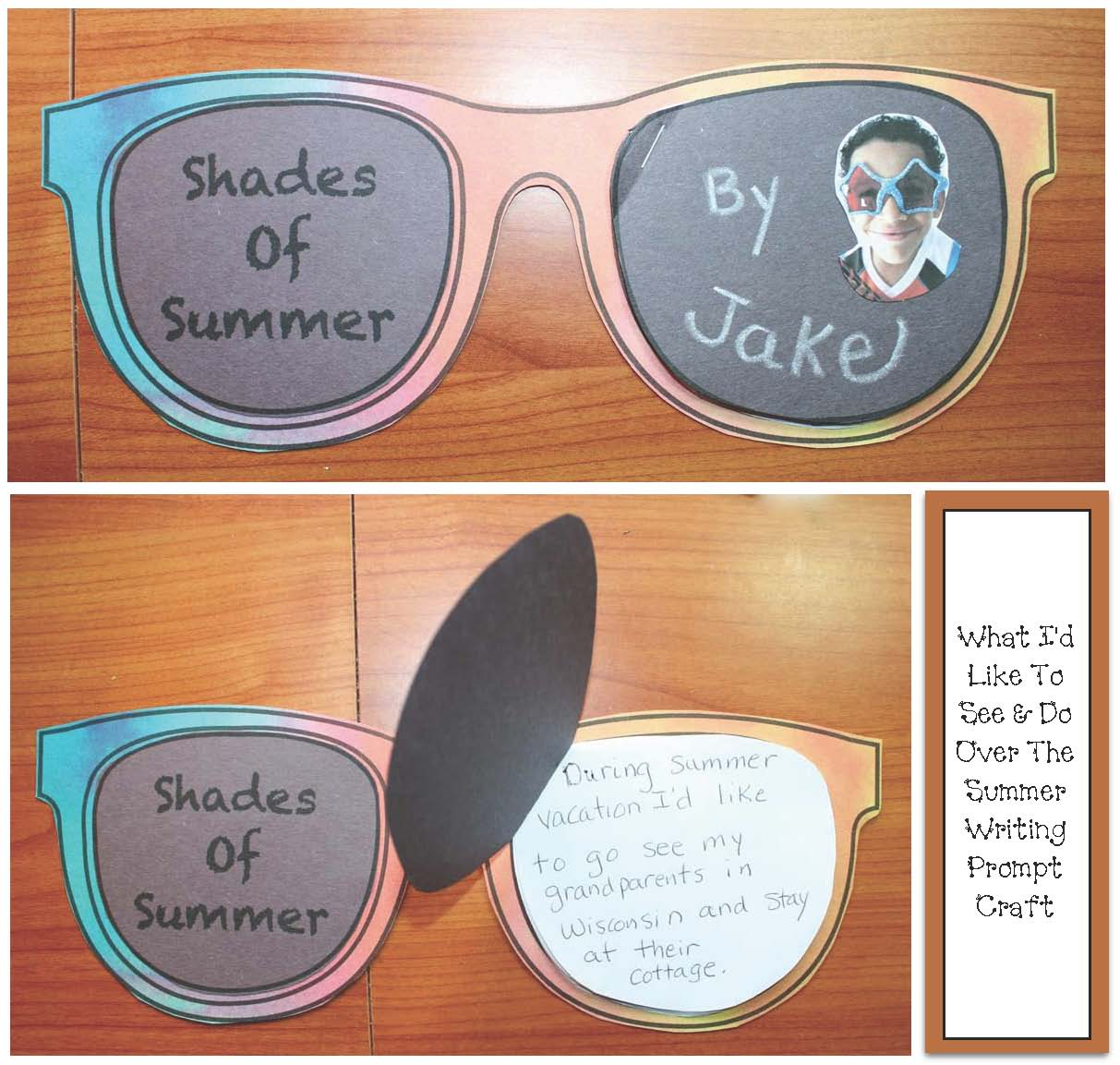 0029aea16a5e Have students write what they'd like to see and do during summer vacation on  the lens-shaped pages.