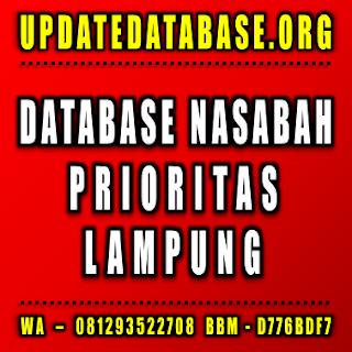 Jual Database Nasabah Prioritas Bandar Lampung