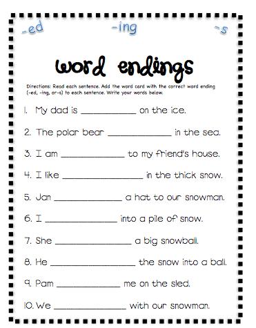 Printables Inflectional Endings Worksheet inflectional endings worksheet abitlikethis worksheet