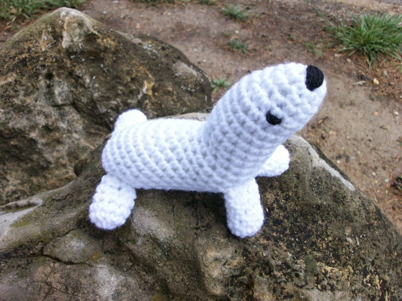 Baby Harp Seal in Crochet