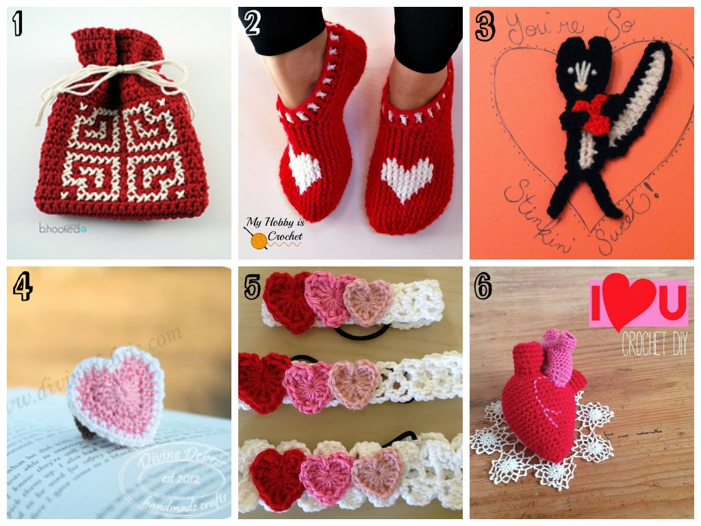 Free Crochet Patterns for your sweetie on Valentine's Days