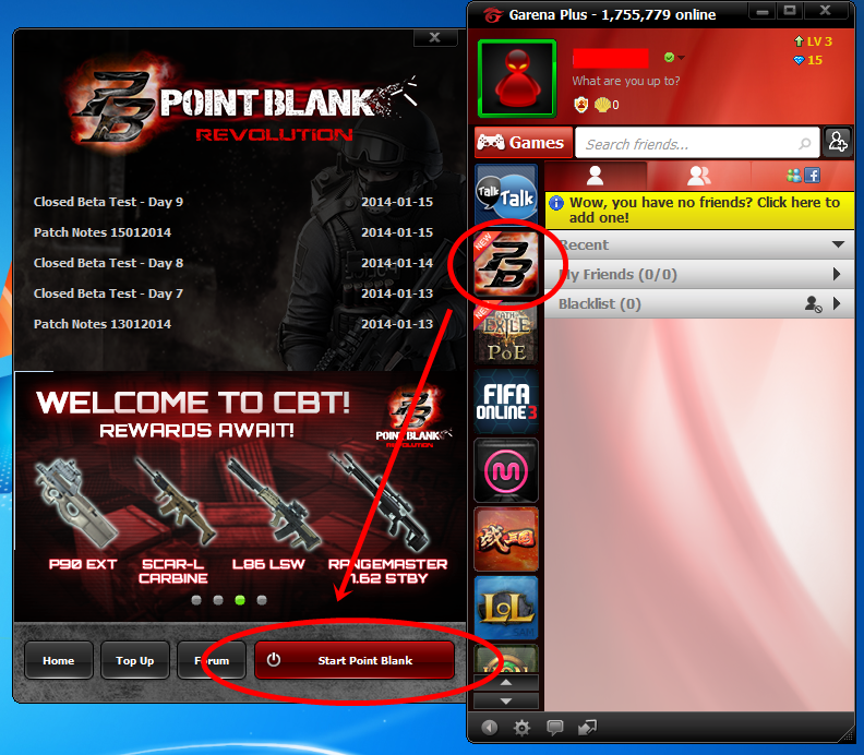 Randa Fahlevi: Games terbaru Point Blank (Garena)