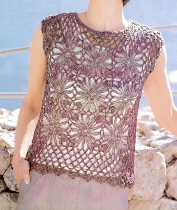 Crochet Pullover / Vest - Easy Pattern