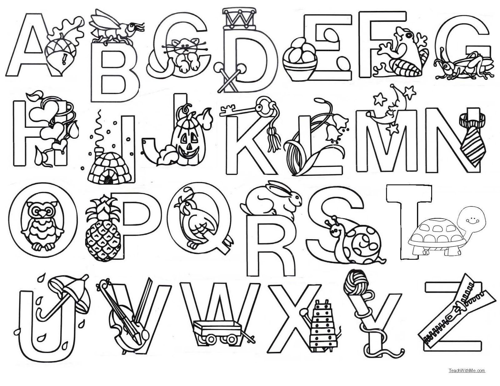 Color Me Alphabet Poster