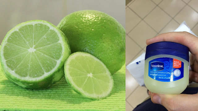lemon and vaseline for remove dark circles