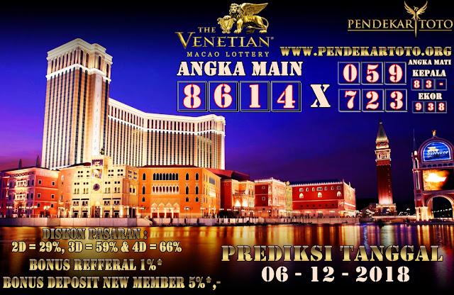 Prediksi Venetian Macao Lottery Tanggal 06 Desember 2018