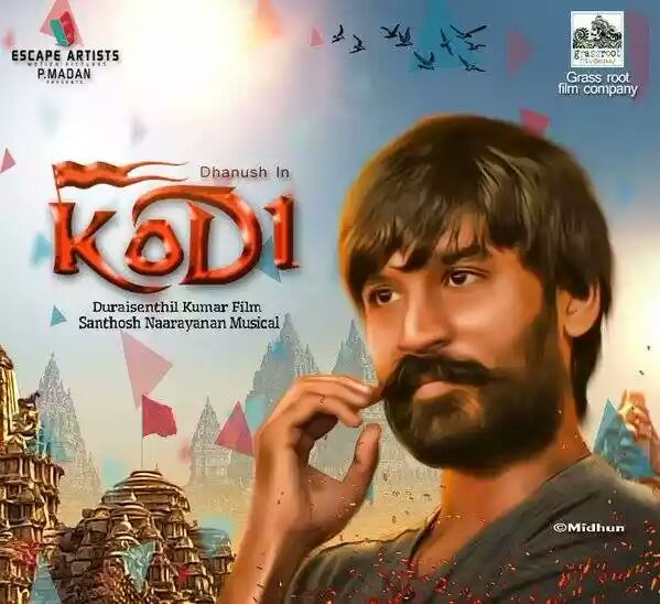 Trisha Krishnan, Dhanush in New Upcoming Tamil movie Kodi movie Poster, release date, star cast, hit or flop