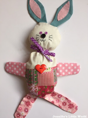 How to make a simple stuffed bunny for a child for Easter