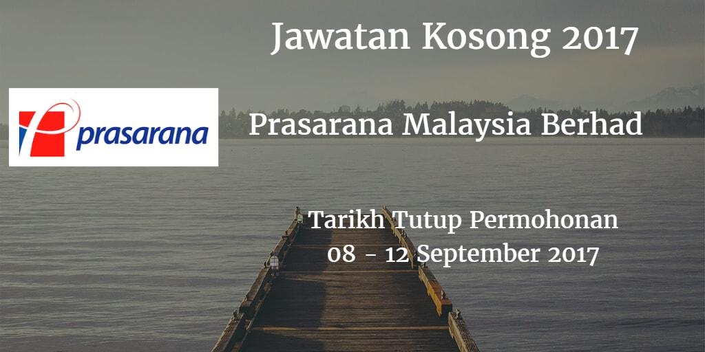 Jawatan Kosong Prasarana Malaysia Berhad 08- 12 September 2017