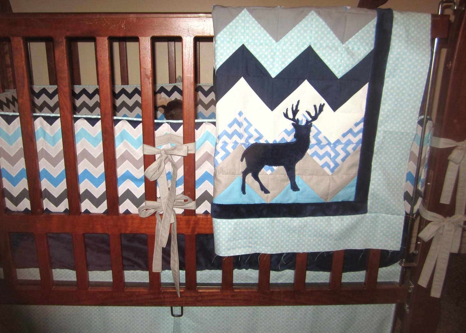 Sewin Sanity Baby Boy Crib Set