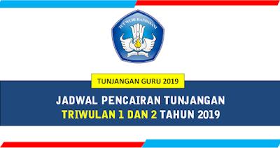 Jadwal Pencairan Tunjangan Guru Triwulan 1 dan 2 Tahun 2019