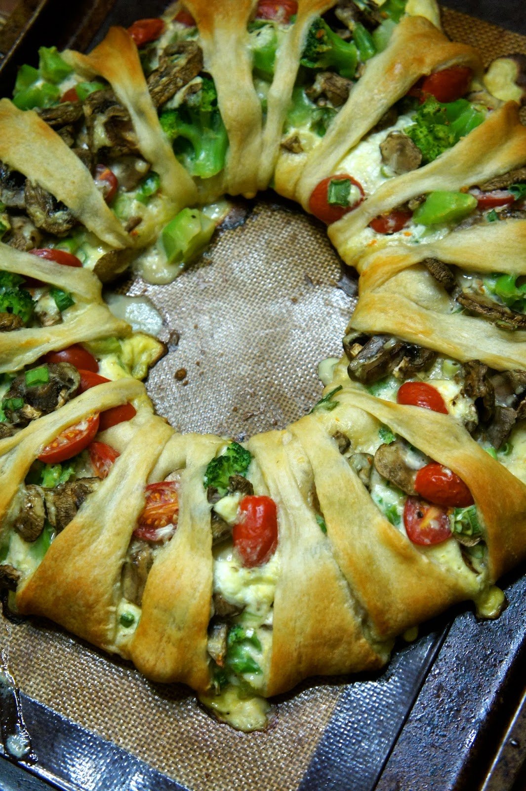 Baked Cheesy Vegetable Twist: Savory Sweet and Satisfying