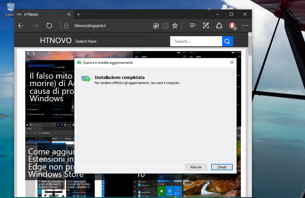 Come installare manualmente gli Aggiornamenti di Windows 10 6 HTnovo Riavviare se necessario