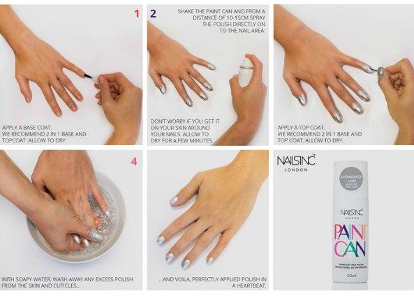 Esmalte de uñas en spray todo un invento