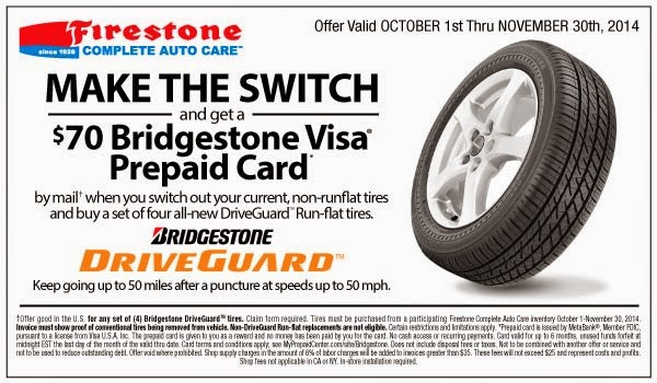 Bridgestone Tire Coupons Codes For December 2018