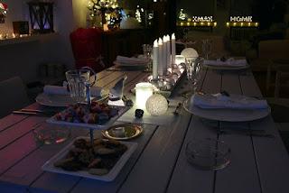 Décoration de table de Noël lumières