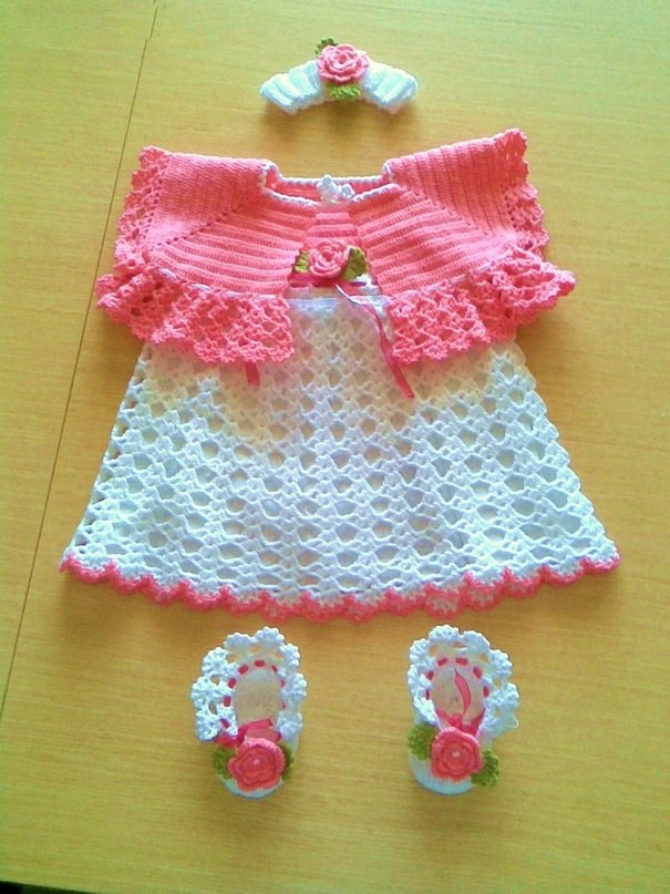 Crochet Yarn Store : What a beautiful crochet girl dress yarn store very stylish and cute ...
