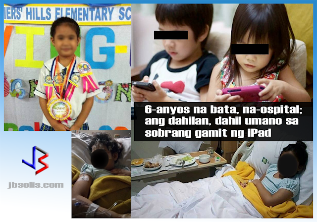 "Do you allow your kids - children below 12 years old - to use your gadgets? Even worse, have you bought them their own gadgets? If so, read this story of what happened to Mikayla, a six-year old girl who is hooked on tablets and TVs.  The event happened last June 27, around 10:30PM at the home of  Mikayla. While her mom was cleaning their house, Mikayla let out a loud scream. Her mom thought that she saw a cockroach - she is allergic to it - and asked what's wrong. Mikayla let out another scream while calling her mom. Sensing that something is wrong, her mom ran in panic only to find Mikayla on the floor, shaking uncontrollably. Checking for any sign of injury from a fall or slipping, her mom asked what was wrong or what happened. Mikayla answered ""mommy, I can't move my (left) arm.""  Trying to make sense of what's happening, the mother kept on asking her daughter about what happened and what she is feeling if any. She can only answer """"mommy, I really can't move my arm.. look it's like jelly!"" When her mom asked Mikayla to get up from the floor and lie down on the bed, they were shocked because she could not stand by herself. By this time, her mom noticed that Mikayla's lips were uneven, and that her speech is becoming slurred. The mom decided to call over her brother who lives next door. More calm than the mother, Mikayla's uncle asked her again what happened, but he got the same answer. She couldn't move her arm nor close her fingers when asked to do so.  Her uncle decided to massage her arm and hand, and after a few minutes, Mikayla could move her fingers and her arm and she slowly recovered.  When things settled, the adults asked Mikayla what happened and what she was doing before the incident happened.  According to Mikayla, after taking a bath, she proceeded to watch the TV. She was also playing with her earrings at the time, sticking it in her crayons. That was when her left hand started shaking and she felt dizzy at the same time. What immediately came to mind was that she may have suffered a stroke (except that it was her left arm that was ""paralyzed"" but it was her right lips that were skewed)! They have decided to bring Mikayla to a hospital.  Around 12:30AM of June 28, they went to the hospital, where they met Mikayla's dad who came from work. The doctor interviewed them to try and seek out probable cause for her seizure. The residing doctor could not determine the cause of her seizure so he ordered CT scan as well as X-ray for Mikayla. She was also confined so doctors could conduct further observation.  By 8:30AM, Mikayla was back to her normal ""makulit"" self. Citing concern for the unexplained seizure, the pediatrician referred them to a neurologist for children. The pediatric neurologist interviewed them, then conducted physical tests and ordered EEG and MRI scans.  The CT scan and X-ray results all came back OK. The MRI however showed one vein that was standing out. A neurosurgeon who reviewed the MRI explained that it was normal, probably an effect of the seizure. Another MRI was ordered two weeks from that day just to make sure.  More concerning was the result of the EEG. The results showed that Mikayla's right brain reaction to flickering lights were slower than normal. The neurologist said it was an effect of the seizure as well.  So what was Mikayla's condition and what caused it? The pediatric neurologist's believe that she suffered from Focal Seizure. What caused the seizure is not 100% certain, but the neurologist believes that the excessive use of gadgets is the main trigger.  Mikayla's mom agreed with the doctors assessment. She admitted that Mikayla was immersed in her iPad and TV since vacation started last March. Her mom is partly taking blame, citing her work at home business, as well as having no help at home nor in her business. (Mikayla's mom makes crafts and gift items.  Mikayla left the hospital June 30th. Her mom was advised to monitor Mikayla closely and that her screen time - gadget and TV use - should be limited to two hours a day only. Children her age should also get enough sleep to avoid these incidents. Realizing her lapses as a parent, Mikayla's mom is now sharing her story to the internet to make other parents aware of the dangers of excessive and unsupervised used of gadgets among children. She stated ""each parent should be aware of their child, regardless of how busy we are.""  Looking back, she now realized that her daughter actually showed early signs of Focal Seizure. Weeks prior, Mikayla sometimes had lack of eye contact and focus when they talked. Sometime, Mikayla appears to be spaced-out, not responding to calls, then suddenly getting surprised. She also suffered from memory loss at one point.  Mikayla's mom admitted, she let her use the iPad for long hours just to keep Mikayla from bothering her while she worked - a sad truth that most of us are guilty of.    See Mikayla's mom's original FB post here."