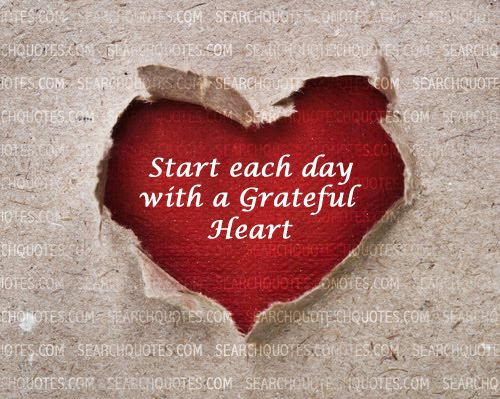 start each with a grateful heart
