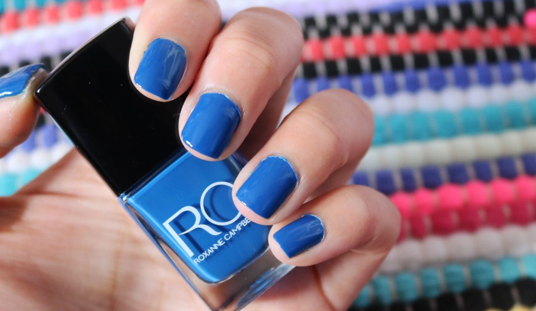 Roxanne Campbell Nail Lacquer in Violets Are Blue swatches