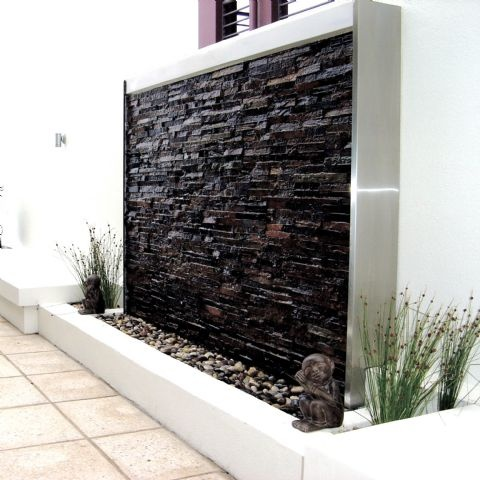 Home Design Ideas: Amazing Outdoor Water Walls For Your ... on Backyard Feature Walls  id=50464