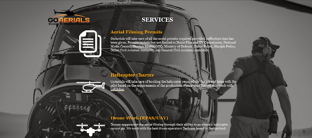 reputable provider of aerial filming, cinematography and photography services