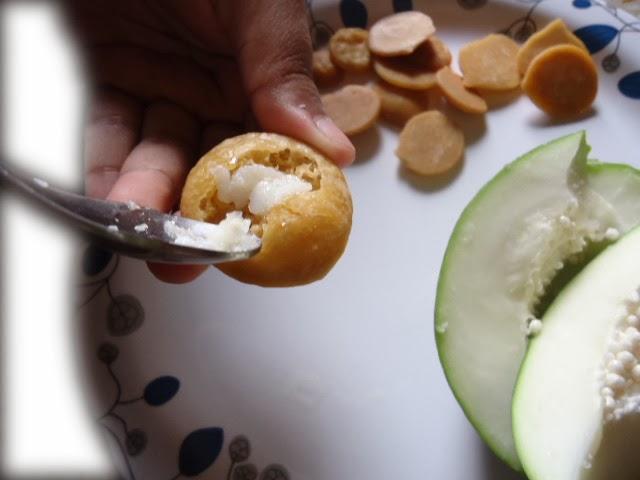 Papaya sap in sugar drops (batasha)
