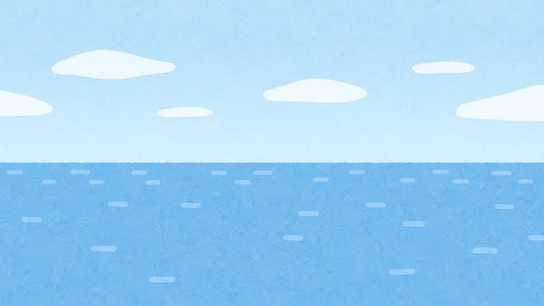水平線のイラスト(背景素材)