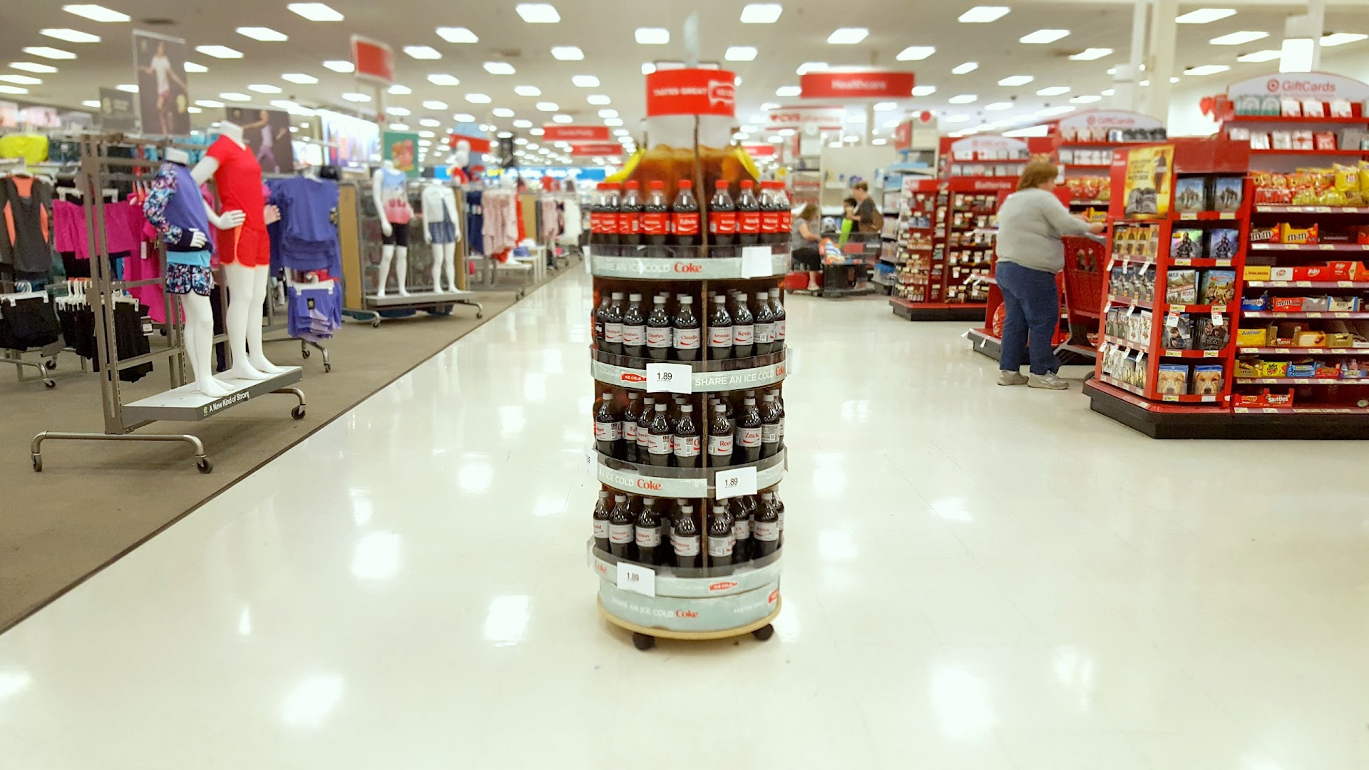 diet coke, coca-cola, target, display