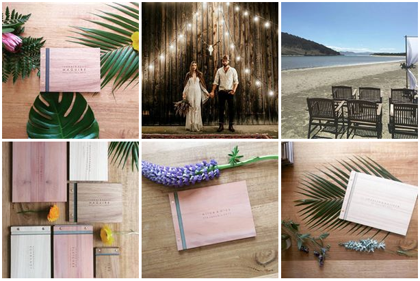 TO THE AISLE AUSTRALIA WOODEN WEDDING GUEST BOOKS