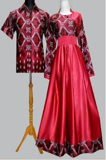 Model Gamis Batik Kombinasi Couple