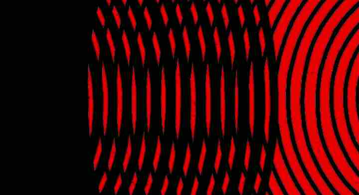 Black And Red Light Waves