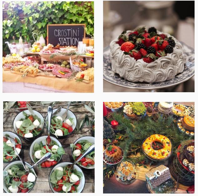 3 caterings de bodas que sigo en instagram - Patricia Arismendi