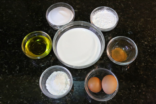 Ingredientes para leche frita