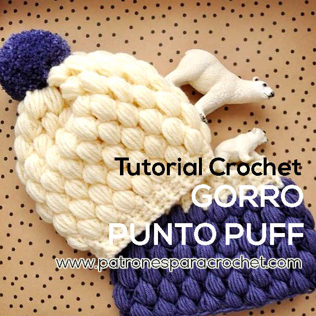 gorro crochet punto puff paso a paso en video
