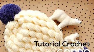 Cómo tejer gorro crochet punto puff / Tutorial