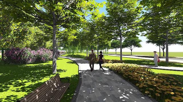 Không gian xanh dạo bộ tại Lovera Garden Đồng Kỵ